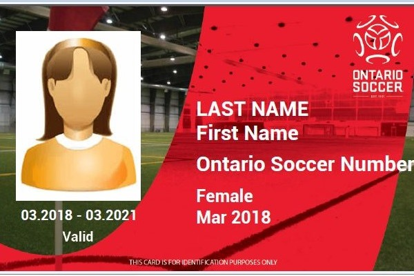 Ontario Soccer Introduces new player card background